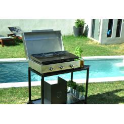 Plancha grill Simplicity 3 branders, roestvrijstalen