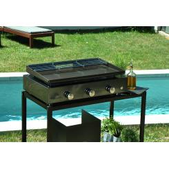 Plancha grill Simplicity 3 branders met geëmailleerd stalen bakplaat