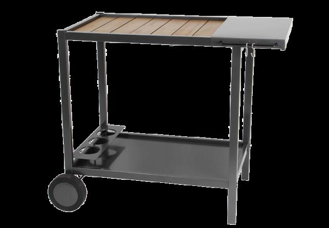 Metalen en houten trolley